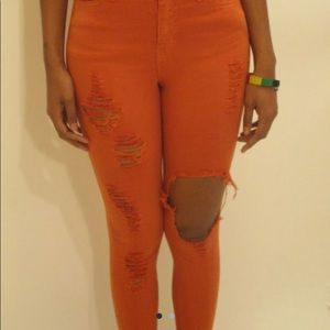 Pants - Brand New women jeans In the color Orange.